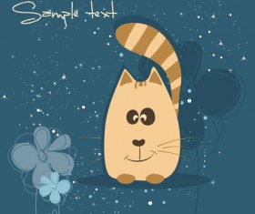 cute cartoon small Animal vector background 03