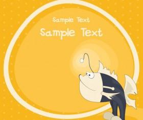 cute cartoon small Animal vector background 04
