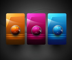 Elements of Shiny Buttons icon vector 03
