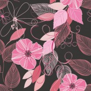 Link toSet of drawing seamless flower pattern vector 02