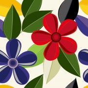 Link toSet of drawing seamless flower pattern vector 03
