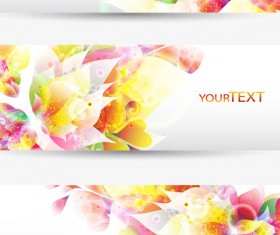 Colorful Halation banner vector 01