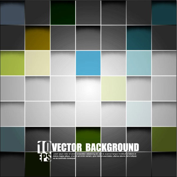 square background vector set 03