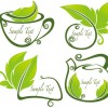 tea Elements Silhouettes vector 01