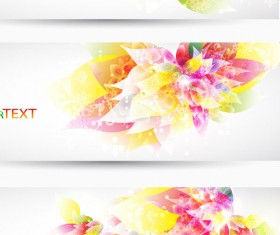 Colorful Halation banner vector 02