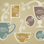 Link toTea elements silhouettes vector 04