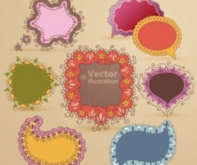Set of cute Speech Bubbles vector 01