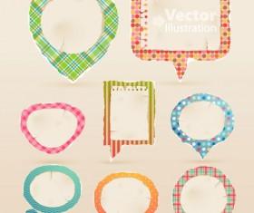 Set of cute Speech Bubbles vector 02