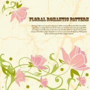 Link toDrawing romantic floral vector background 03