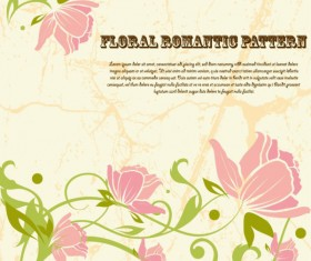 Drawing romantic floral vector background 03