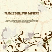 Link toDrawing romantic floral vector background 04