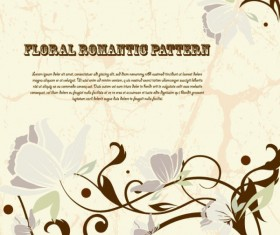 Drawing romantic floral vector background 04