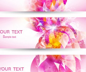 Colorful Halation banner vector 03