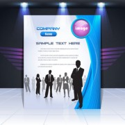 Link toDisplay board cover background vector 01
