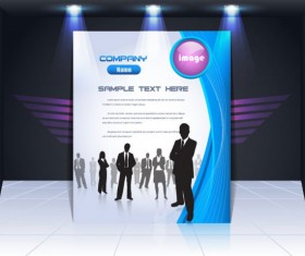 Display board cover background vector 01