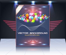 Display board cover background vector 03