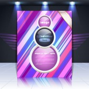 Link toDisplay board cover background vector 05