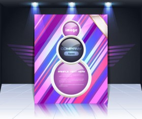 Display board cover background vector 05