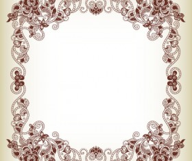 Elements of Floral Borders vector 01