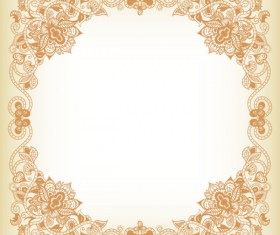 Elements of Floral Borders vector 03