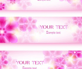 Colorful Halation banner vector 05