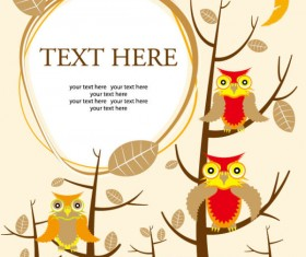 Set of Cartoon small animals vector background 03