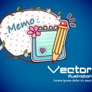 Link toSet of cartoon elements illustration vector 01