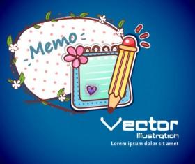 Set of cartoon elements Illustration vector 01