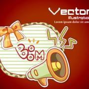 Link toSet of cartoon elements illustration vector 03