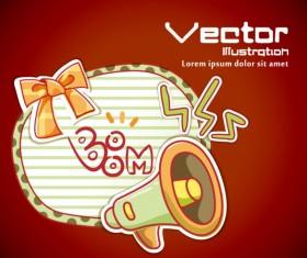 Set of cartoon elements Illustration vector 03