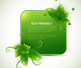 Eco design elements vector cards 01