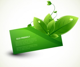 Eco design elements vector cards 02