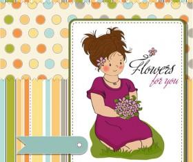 Healthy baby cards vector 03