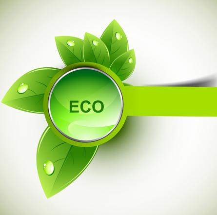 eco design elements vector cards 03 vector card free download. Black Bedroom Furniture Sets. Home Design Ideas