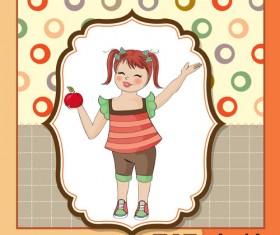 Healthy baby cards vector 04