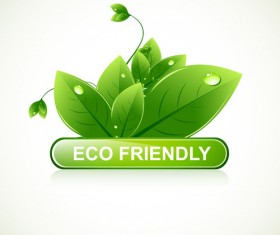 Eco design elements vector cards 04