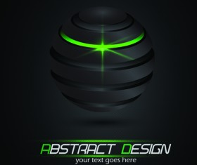 Abstract Black Backgrounds elements vector 04