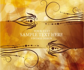 Abstract brown decorative background vector 02