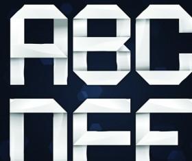 Elements of paper tape Alphabet letter vector 02