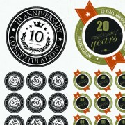 Link toElements of anniversary numbers labels vector 03