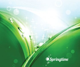 Spring green grass Background vector 03