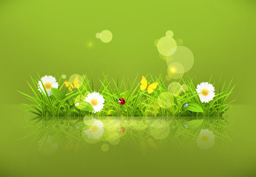 green spring background - photo #45