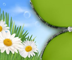 Spring green grass Background vector 05