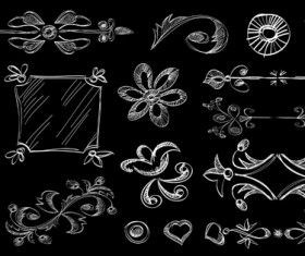 Set of Vintage Borders designs elements vector 04