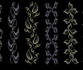 Set of Vintage Borders designs elements vector 05