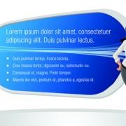 Link toElements of business talk and presentation vector set 01