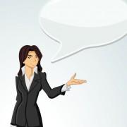 Link toElements of business talk and presentation vector set 03
