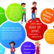 Link toElements of business talk and presentation vector set 05