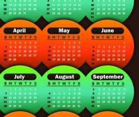 2013 calendars design elements vector 03