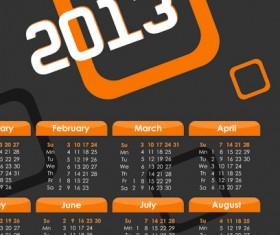2013 calendars design elements vector 04